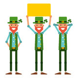 Saint Patrick Povos vestidos como o caráter principal para a íris Fotos de Stock Royalty Free