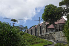 Saint Patrick Roman Catholic Church. DOMINICA. BEREKUA, DOMINICA - JANUARY 6, 2017 - Saint Patrick Roman Catholic Church on January 6, 2017 at Berekua village stock photos