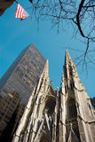 Saint Patrick's Cathedral. Fifth Avenue, MIdtown, Manhattan, New York City, USA Stock Photography