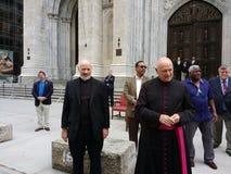 Saint Patrick& x27;s Cathedral, Clergy, NYC, NY, USA stock photography