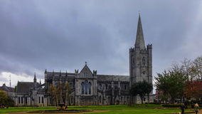Saint Patrick's Cathedral In Dublin Time-Lapse stock footage