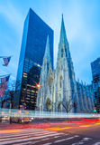 Saint Patrick's Cathedral, early morning, Manhattan, New York, USA Stock Image