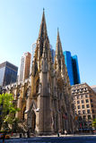 Saint Patrick's Cathedral, New York. View of Saint Patrick's Cathedral, taken in the Fifth Avenue, New York Stock Photo
