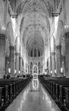 Saint Patrick`s Cathedral in New York City. New York, NY, USA- Jan 28, 2017. Interior of Saint Patrick`s Cathedral in New York City Royalty Free Stock Photos