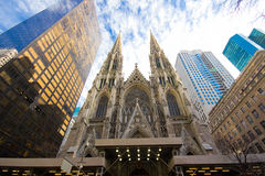 Saint Patrick's Cathedral NYC Stock Photos