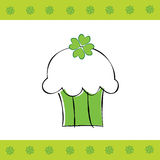 Saint Patrick's Cupcake Royalty Free Stock Images
