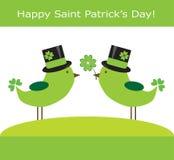 Saint Patrick's Day. Happy Saint Patrick's Day birds Stock Images