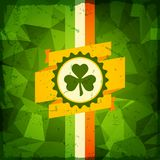 Saint Patrick's Day abstract grunge background Stock Photography