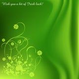 Saint Patrick' s Day background. Green Saint Patrick' s Day grunge background Stock Image