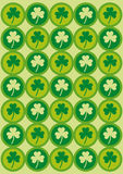 Saint Patrick's day background. A background for saint Patrick's day with clovers Royalty Free Stock Images