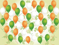 Saint Patrick's day background with balloons Stock Image