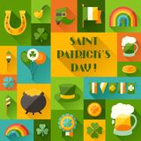 Saint Patrick's Day background in flat design Stock Image