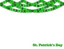 Saint Patrick`s day background with garland of green Party flags. Saint Patrick`s day background with  garland of green Party flags. Vector Illustration Royalty Free Stock Photos