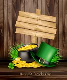 Saint Patrick`s Day background with a green hat Stock Photography