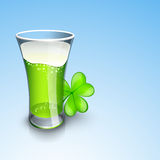 Saint Patrick's Day background or greeting card with beer glass Royalty Free Stock Photography