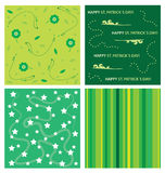 Saint patrick´s day background set Royalty Free Stock Images