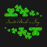 Saint Patrick`s day background vector illustration Stock Photography