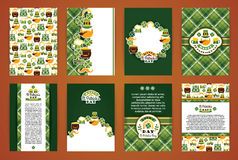 Saint Patrick's Day backgrounds. Vector Design Templates Collect. Ion for Banners, Flyers, Placards, Posters and other use Stock Photography