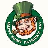 Saint Patrick's Day Badge Stock Photos