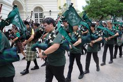 Saint Patrick`s Day Bagpipe Music Band Stock Image