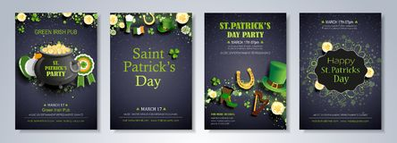 Saint Patrick`s Day brochure template Stock Images