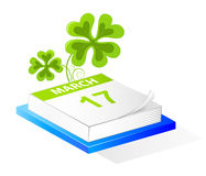 Saint Patrick's Day calendar Royalty Free Stock Photos