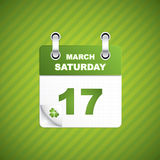 Saint Patrick's day calendar Stock Photos