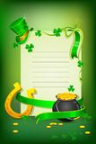 Saint Patrick's Day Card royalty free illustration