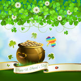 Saint Patrick's Day card Stock Photography
