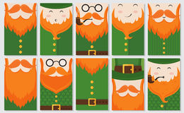 Saint Patrick`s Day cards royalty free illustration