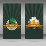 Saint Patrick`s Day cartoon illustration on green background. Illustration Vector Illustration