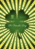 Saint Patrick`s day celebration card Royalty Free Stock Photos
