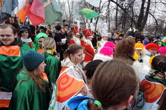 Saint Patrick`s Day celebration in Moscow. Royalty Free Stock Images