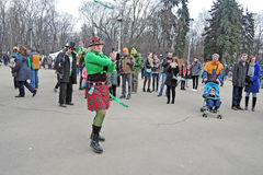 Saint Patrick`s Day celebration in Moscow Royalty Free Stock Photo