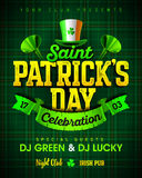 Saint Patrick`s Day celebration party invitation poster design Stock Photos