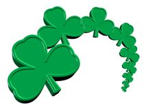 Saint Patrick's Day Clover. Saint Patrick's Day 3D clovers on a white isolated background Stock Image