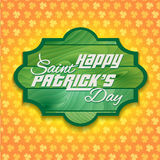 Saint Patrick's Day clover Background Stock Photography