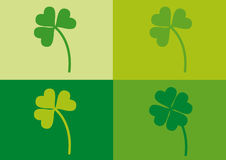 Saint Patrick's day clovers. Clovers with different colors for Saint Patrick's day Royalty Free Stock Photos