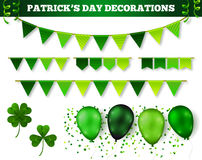 Saint Patrick`s Day Decorations Set Royalty Free Stock Images