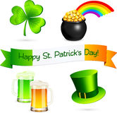 Saint Patrick's Day design elements set Royalty Free Stock Photography