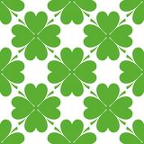 Saint Patrick's day design - Four leaf clover seamless pattern Royalty Free Stock Image