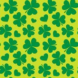 Saint Patrick's day design - Four leaf clover seamless pattern Royalty Free Stock Images