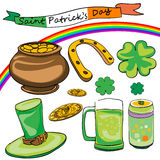 Saint patrick's day doodles Stock Images