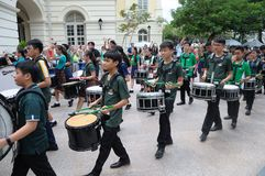 Saint Patrick`s Day Drumming Music Band Stock Image