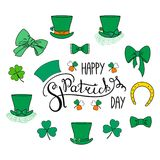 Saint Patrick`s day elements Stock Photos