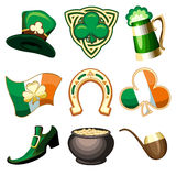 Saint Patrick's Day Emblem Set Royalty Free Stock Photos