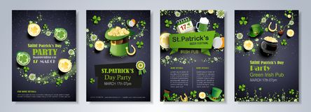 Saint Patrick`s Day flyer brochure Royalty Free Stock Photography