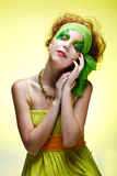Saint patrick's day girl Stock Images