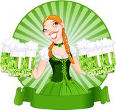 Saint Patrick's Day Girl Royalty Free Stock Photo