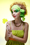 Saint patrick's day girl Stock Photos